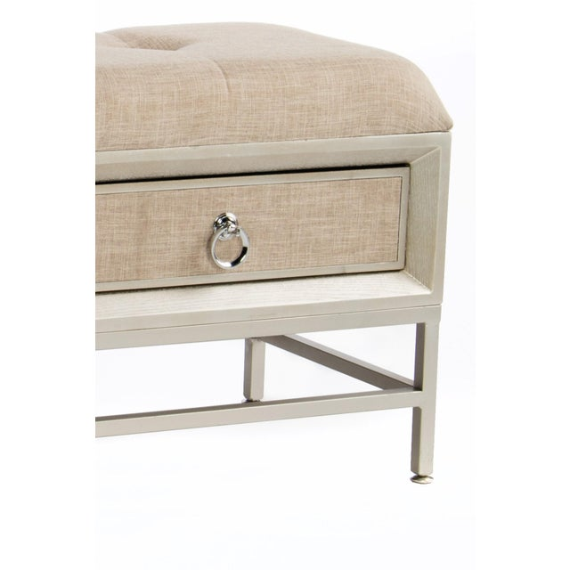 "New bench with 2 drawers. Drawers are covered with linen fabric. Measurements:44""l x 16 d"" x 20"" h 45 pounds Materials:..."