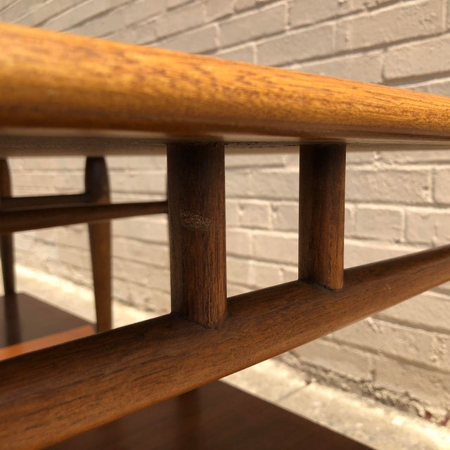 1950s Mid-Century Modern Lane Furniture Acclaim Dovetail End Tables - a Pair For Sale In Philadelphia - Image 6 of 9