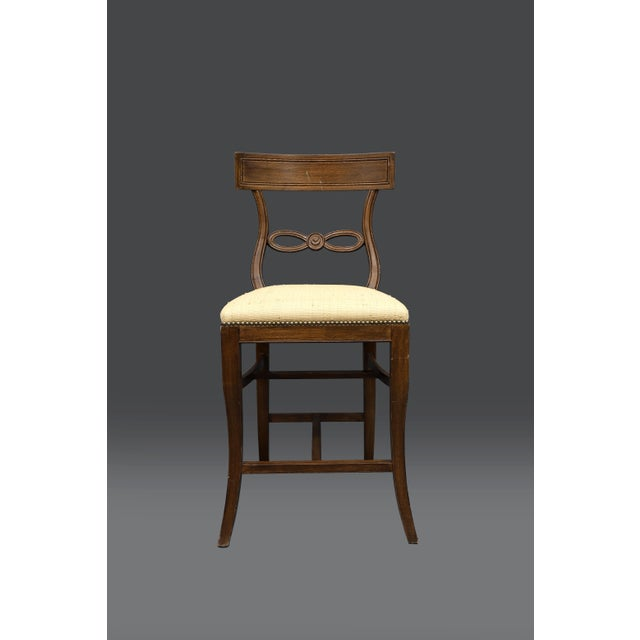 1980s Vintage Raffia Covered Seat Counter Stool For Sale In New York - Image 6 of 6