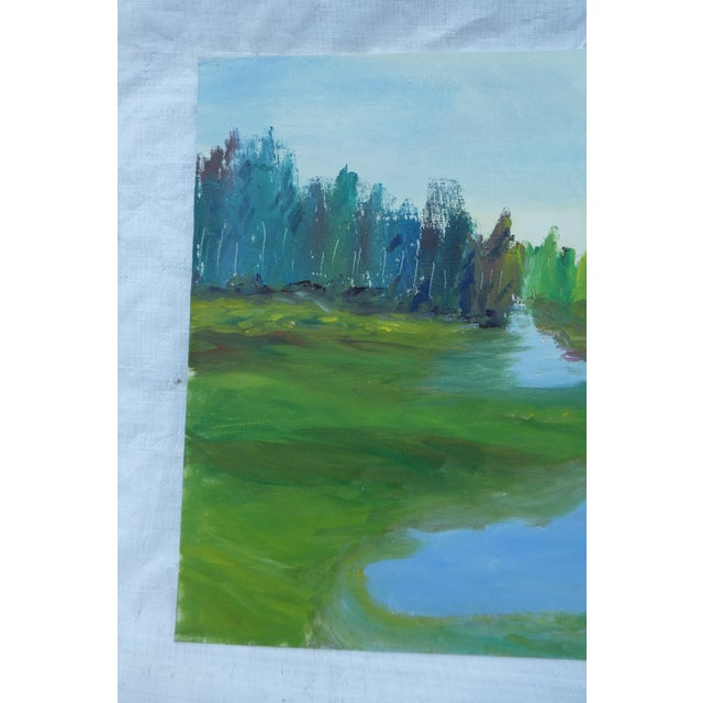 H.L. Musgrave Mid-Century River Painting - Image 3 of 6