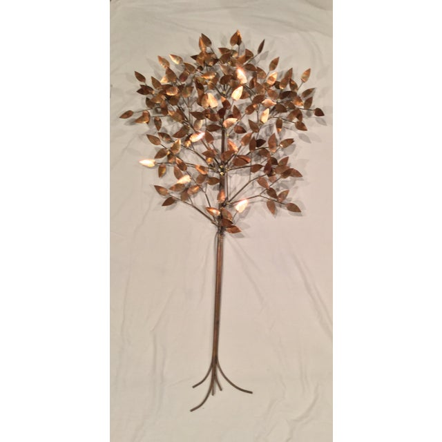 1970s Signed Curtis Jere Copper Tree Wall Sculpture For Sale - Image 5 of 7