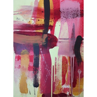 "Denmark Contemporary Red Abstract ""La Flora Fuega 3"" For Sale"