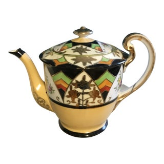 Art Deco Hand Painted Coffee Pot