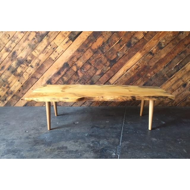 Live Edge Northern California Pine Coffee Table For Sale - Image 4 of 6