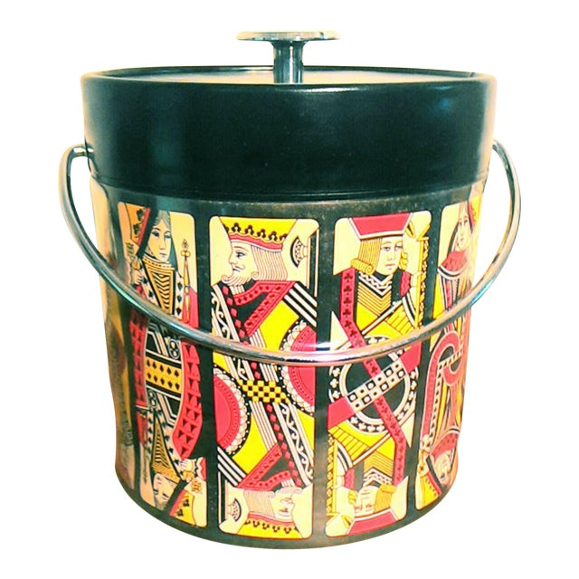 Mid-Century Card Theme Ice Bucket - Image 1 of 7
