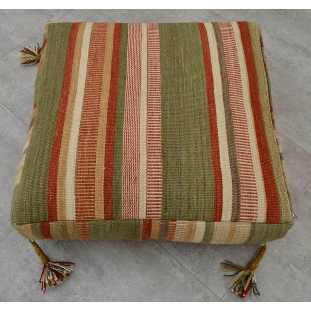 Turkish Hand Woven Floor Cushion Cover - Image 4 of 8