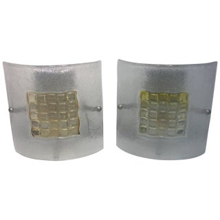 Pair of Modern Murano Glass Sconces For Sale