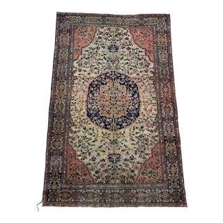 1900s Antique Persian Sarouk Rug- 4′ × 6′3″ For Sale
