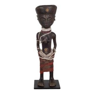 Custom Mounted African Chokwe Tribe Angolan Figure For Sale