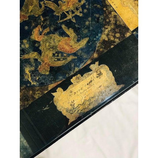 Guglielmus Blaeuni - Guglielmus Blaeuni Scagliola Policromia Coffee Table From 1731 For Sale - Image 6 of 8