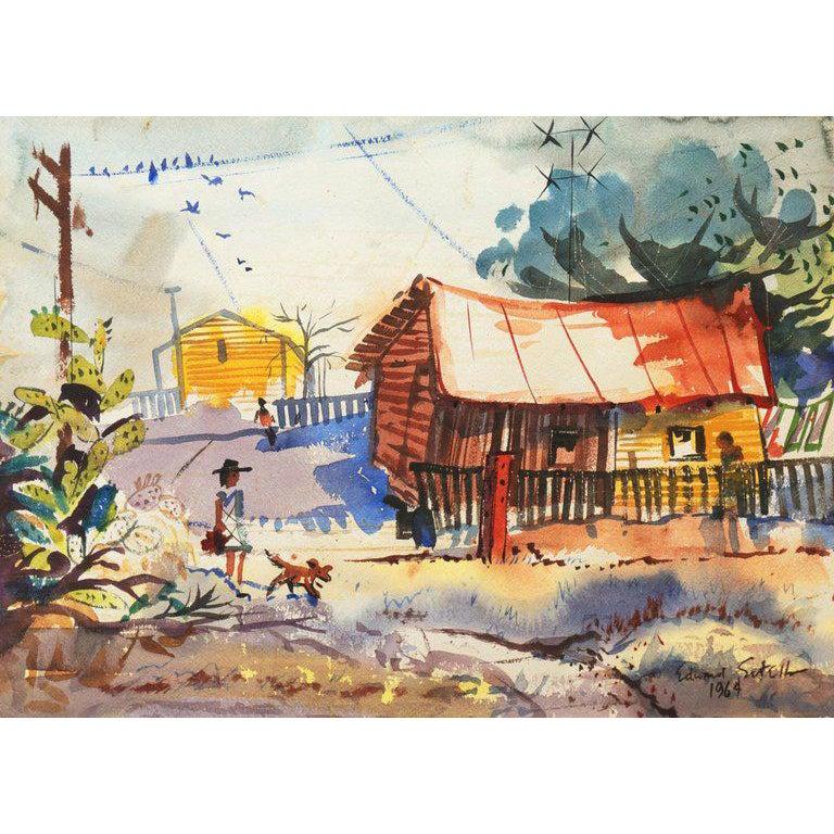ny produkt äkta skor kvalitetsdesign Old Monterey Lane' by Edward Sorel, 1964; Society of Illustrators ...