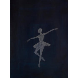 """""""Ballet Pose Shadow I"""" Contemporary Minimalist Figurative Mixed-Media Painting For Sale"""