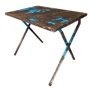 1920s French Industrial Folding Table For Sale