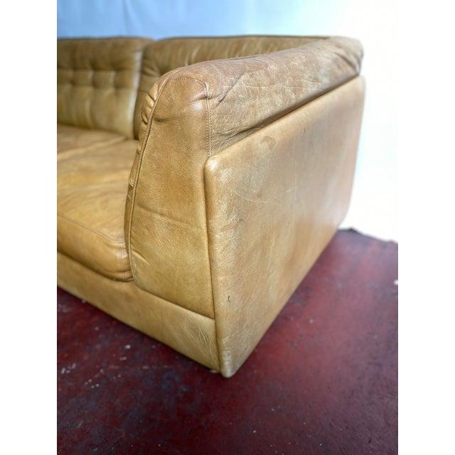 1970s Vatne Mobler Vintage Leather Sectional Sofa For Sale - Image 5 of 11