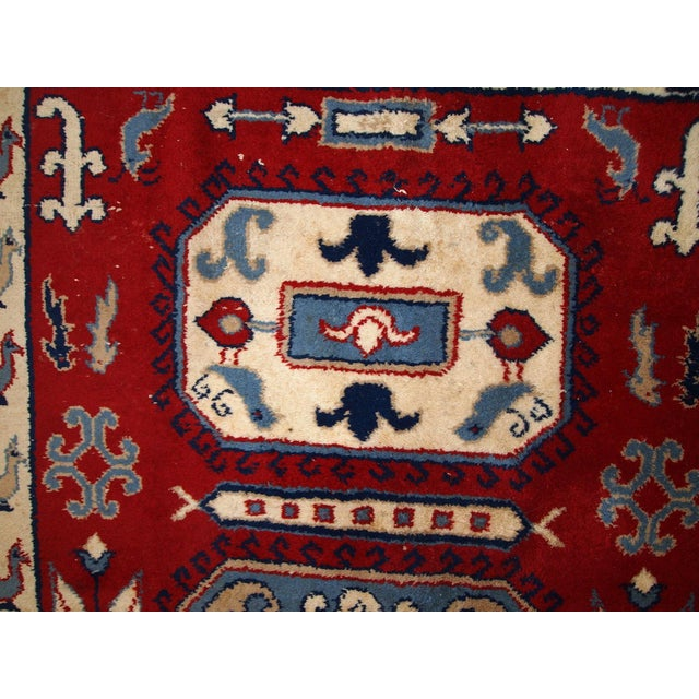 1970s Vintage Caucasian Kazak Rug - 4′ × 6′ - Image 5 of 10