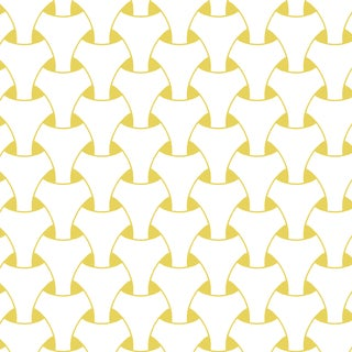 Mitchell Black Island Weave Dusty Yellow Prepasted Wallpaper For Sale