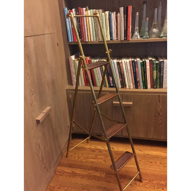 English Folding Library Ladder - Image 4 of 6