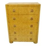 Image of 1940s Art Deco Birdseye Maple Tall Chest Dresser For Sale