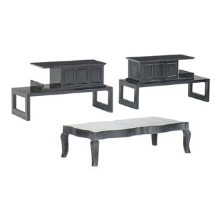 1960's Coffee Table & Pair of Side Tables by James Mont For Sale