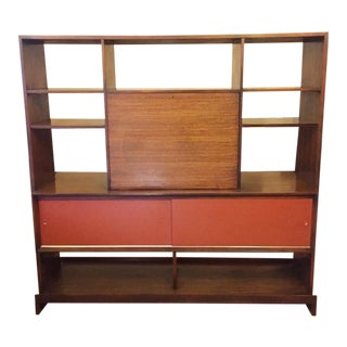 Mid-Century Shelving Room Divider by Milo Baughman for Drexel