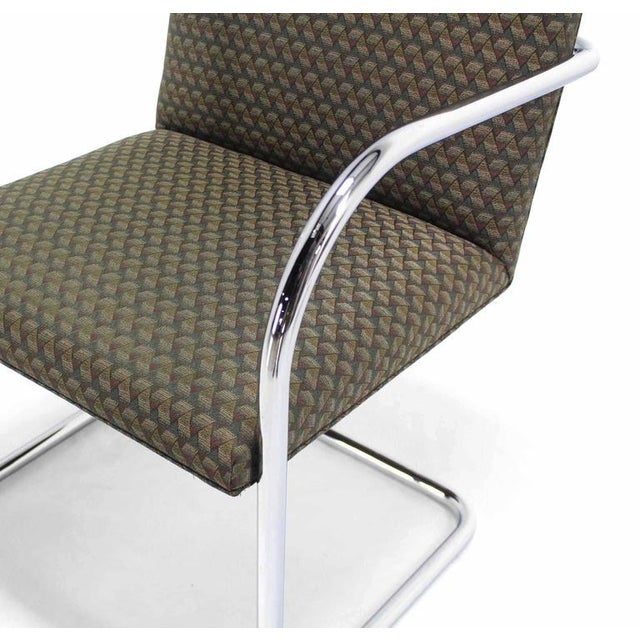 Pair of Mies Brno Side office dining Chairs for Knoll For Sale In New York - Image 6 of 10