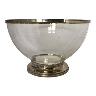 Godinger Footed Silver & Polymer Bowl For Sale