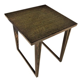 Mid-Century Paul László Style Original Black Cerused Side Table For Sale