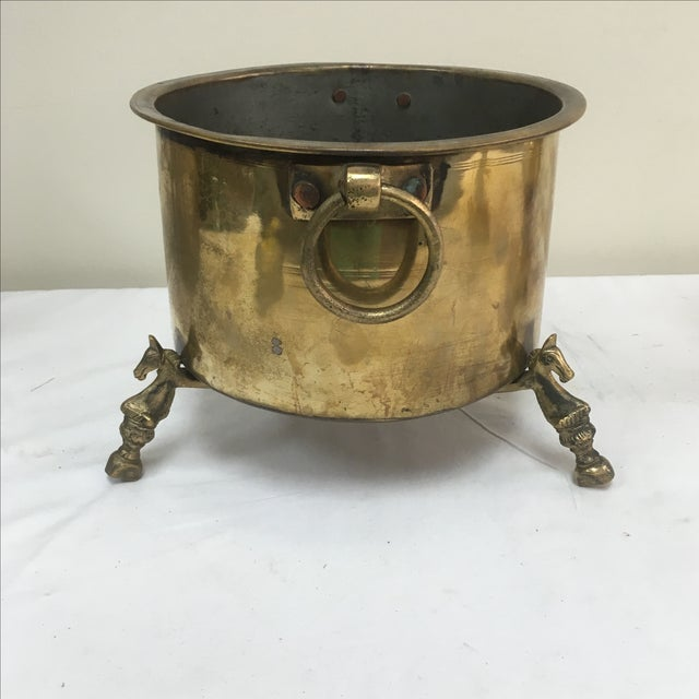 Antique French Brass Champagne Bucket - Image 2 of 5