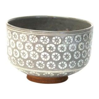 Antique Japanese Stoneware Tea Bowl For Sale