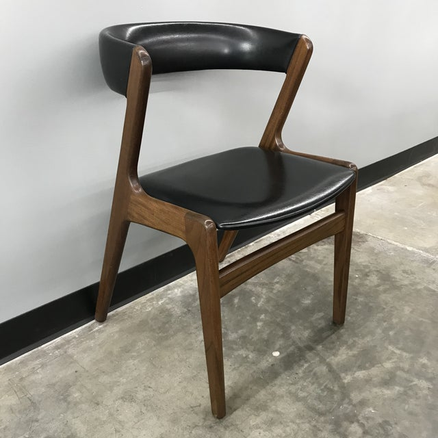 1960s Set of 6 Kai Kristiansen Dining Chairs For Sale - Image 5 of 13