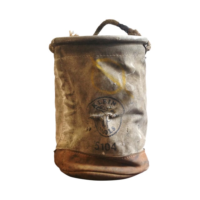 Vintage Lineman's Canvas Bucket - Image 1 of 4