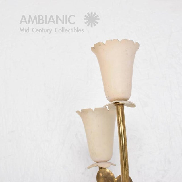 1950s Pair of Mid-Century Modern Italian Wall Sconces For Sale - Image 5 of 8
