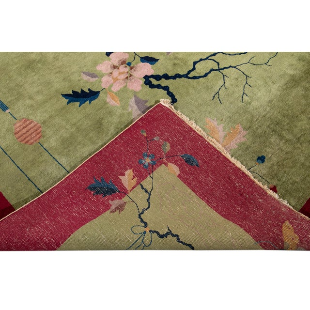 Textile Early 20th Century Antique Chinese Art Deco Rug For Sale - Image 7 of 8
