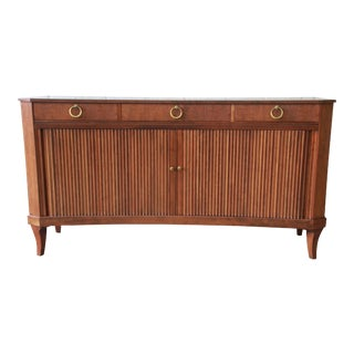 Baker Furniture Regency Style Curved Front Tambour Door Sideboard Credenza