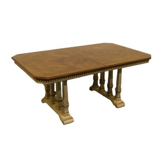 "Stanley Furniture French Provincial 66"" Rectangular Trestle Dining Table For Sale"