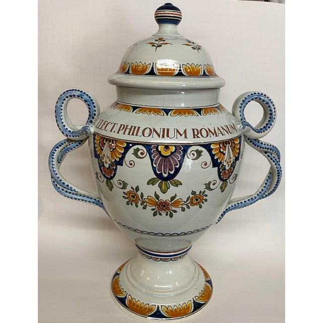 1920s Delft Apothecary Urn For Sale - Image 11 of 11