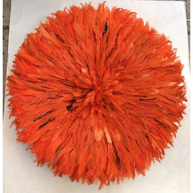 Tangerine African Juju Hat - Image 2 of 3