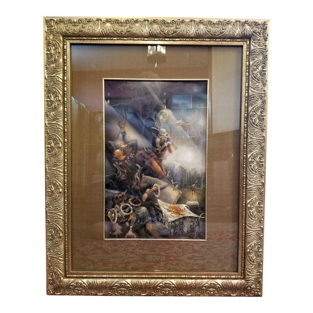 "Vladimir Ryklin ""Cirque De Soleil 2"" Oil Painting on Canvas For Sale"