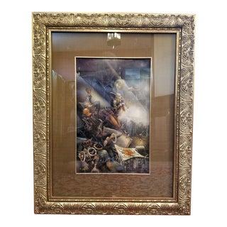 Vladimir Ryklin Oil on Canvas Cirque De Soleil 2 For Sale