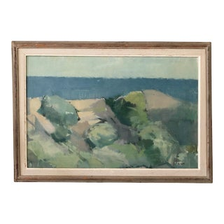 Abstract Swedish Coastal Landscape Painting by Gustave Arne For Sale