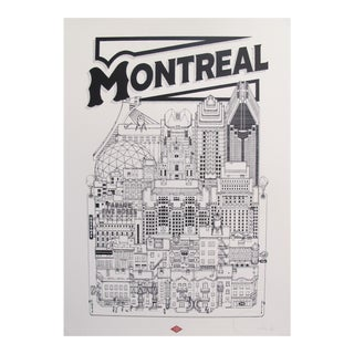 2019 Contemporary Cityscape Poster - Montreal Map - New Version For Sale