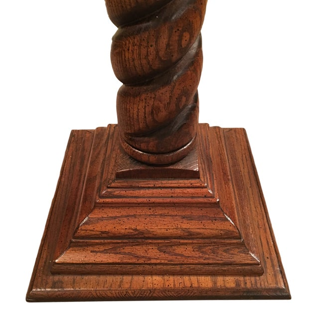 20th Century Chippendale Spiral Barley Twist Carved Column For Sale - Image 4 of 7