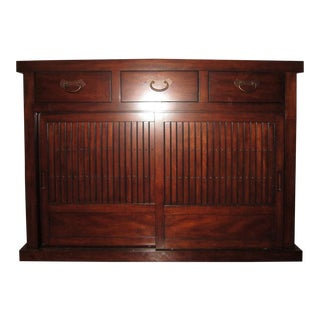 Chinese Wood Tansu Sideboard