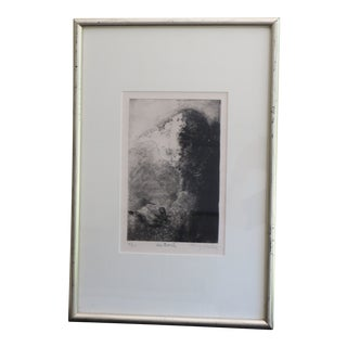 Late 20th Century Francis Mockel Abstract Signed & Numbered Lithograph Print For Sale