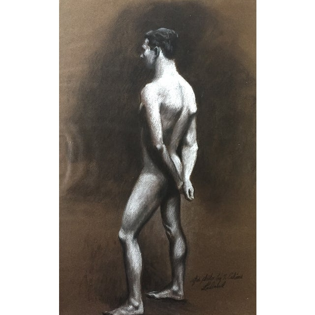 Standing Male Nude by Thad Leland, Mid Century - Image 4 of 4