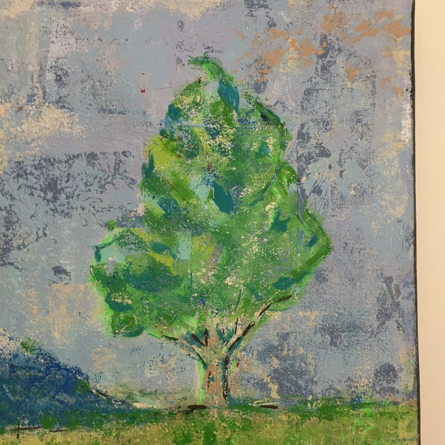 Canvas Katherine Musser Berry Tree in Landscape Original Acrylic on Canvas Painting For Sale - Image 7 of 9