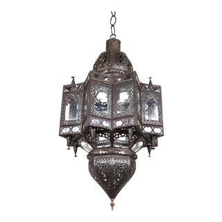 Large Moroccan Star Shaped Light Pendant For Sale