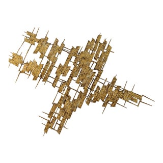 Jere Brutalist Metal Wall Sculpture For Sale