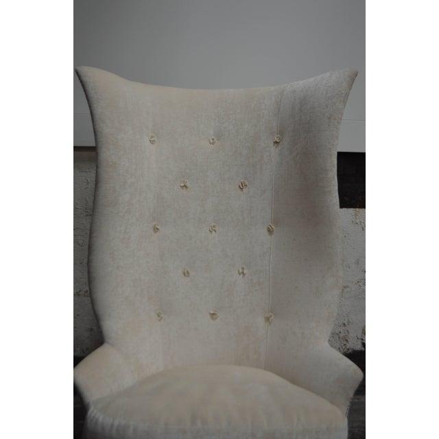 Custom Gudinna Tall Barrel Wing Chair For Sale - Image 4 of 9