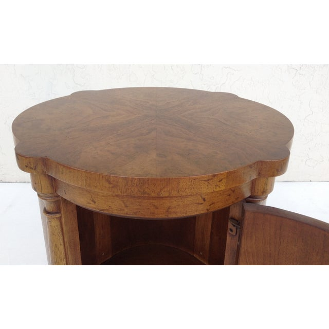 Vintage Regency Style Columned Round End Table - Image 6 of 10
